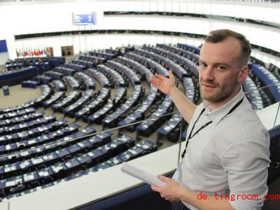 Philipp Bauer ist Mitarbeiter im EU-Parlament. Foto: Assata Frauhammer/dpa