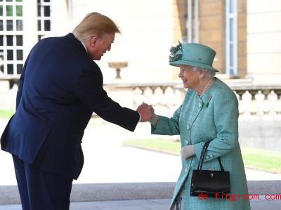 Sie ist die Königin von Großbritannien. Er ist der Präsident der Vereinigten Staaten von Amerika. Foto: Victoria Jones/PA Wire/dpa