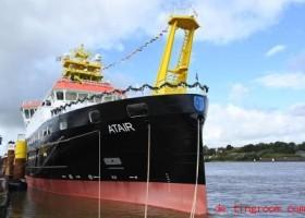 Ein Forschungsschiff f?hrt mit Erdgas