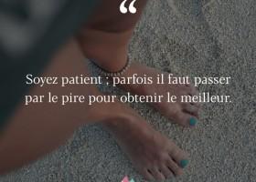 【法语美图美句】Soyez patient