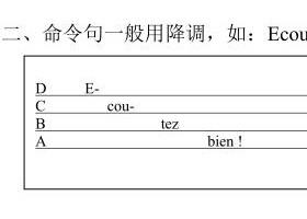 【法语语音入门(全)】63 第五课 语音知识 语调 命令句的语调