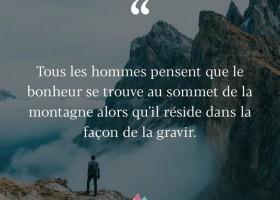 【法语美图美句】Le bonheur se trouve au sommet