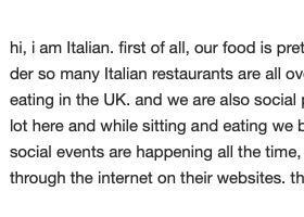 意大利的食物非常适合欧洲的饮食口味
