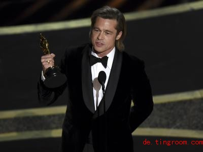 Brad Pitt widmete den Oscar seinen Kindern. Foto: Chris Pizzello/Invision/AP/dpa