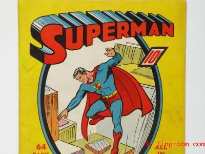 So sah der erste Comic mit Superman aus. Foto: -/Sotheby?s/dpa