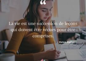 【法语美图美句】La vie est une succession de leçons 生活是一系列课