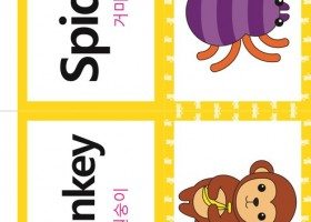 看图学韩语之韩英双语词汇【动物类spider】