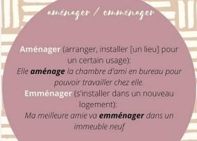 【辨析】Aménager VS Emménager