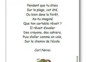 【法语童谣】 Le cartable rêveur