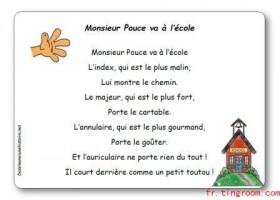 【法语童谣】 Monsieur Pouce va à l'école