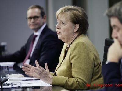 Bei einer Presseko<em></em>nferenz mit Bundeskanzlerin Angela Merkel wurde die Verlängerung des Lockdowns bekanntgegeben. Foto: Michael Kappeler/dpa-pool/dpa