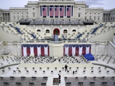 Das weiße Gebäude ist das Kapitol in Washington. Hier wird der neue Präsident Joe Biden seinenEid schwören. Foto: Patrick Semansky/AP/dpa