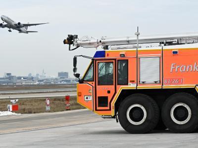 Der Flughafen Frankfurt hat eine neue Feuerwache. Foto: Arne Dedert/dpa