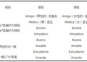 西语入门:西语单词阴阳性的变化