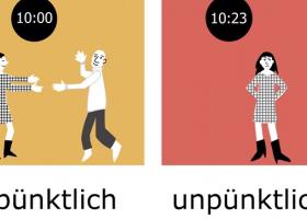 最重要的100组反义词:pünktlich – unpünktlich