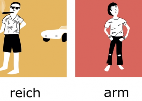 最重要的100组反义词:reich – arm