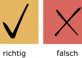 最重要的100组反义词:richtig – falsch