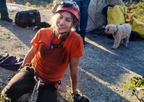 动物:Hündin aus Felsspalte gerettet