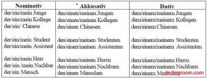 新求精德语强化教程初级第六课:语法-阳性弱变化名词